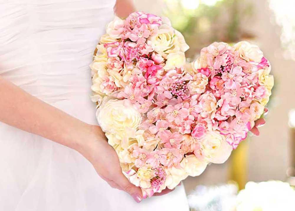 花嫁の手紙ハートフラワー桜