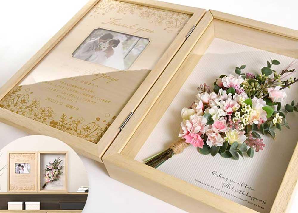 木製BOXフレーム桜ブーケ
