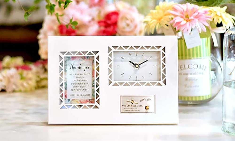 即日出荷のギフトオルゴール付時計-「チューリップ」