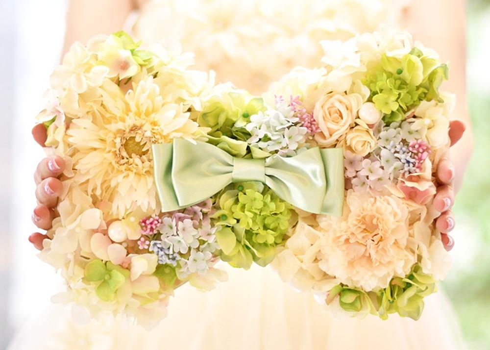 【感謝状×手紙】花嫁の手紙/木製レーザー刻印「リボン」