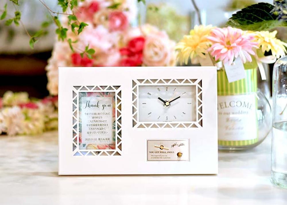 【即日出荷】両親ギフト オルゴール×感謝状付時計 「チューリップ」