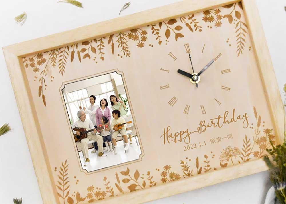 お祝い工房木製時計アルベロボタニカルリーフ