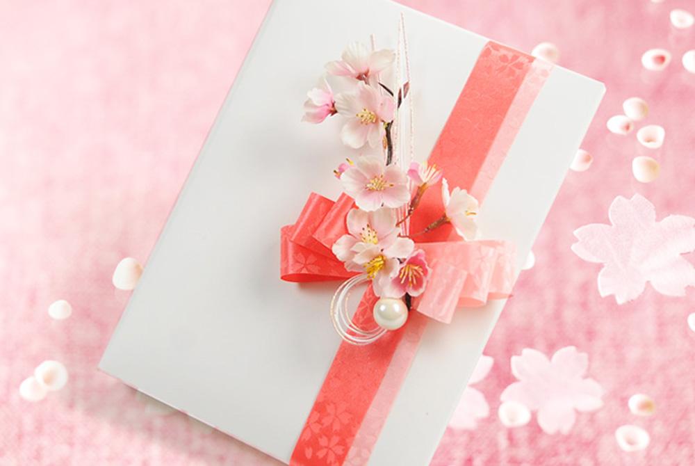 花嫁からの手紙/ブライズセット「宴桜」子育て感謝状・フォトアルバム