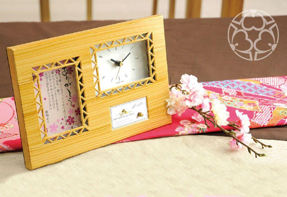 祖父母へ贈るオルゴール付時計「夢華(ゆめか)」