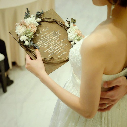 花嫁の手紙ウッドリース
