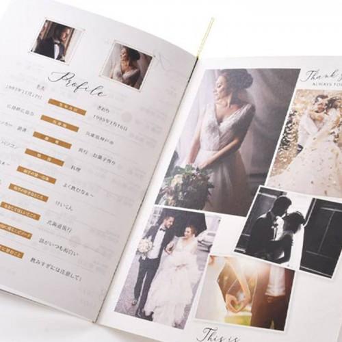写真で魅せるプロフィールブック(席次表付)Melinda メリンダ