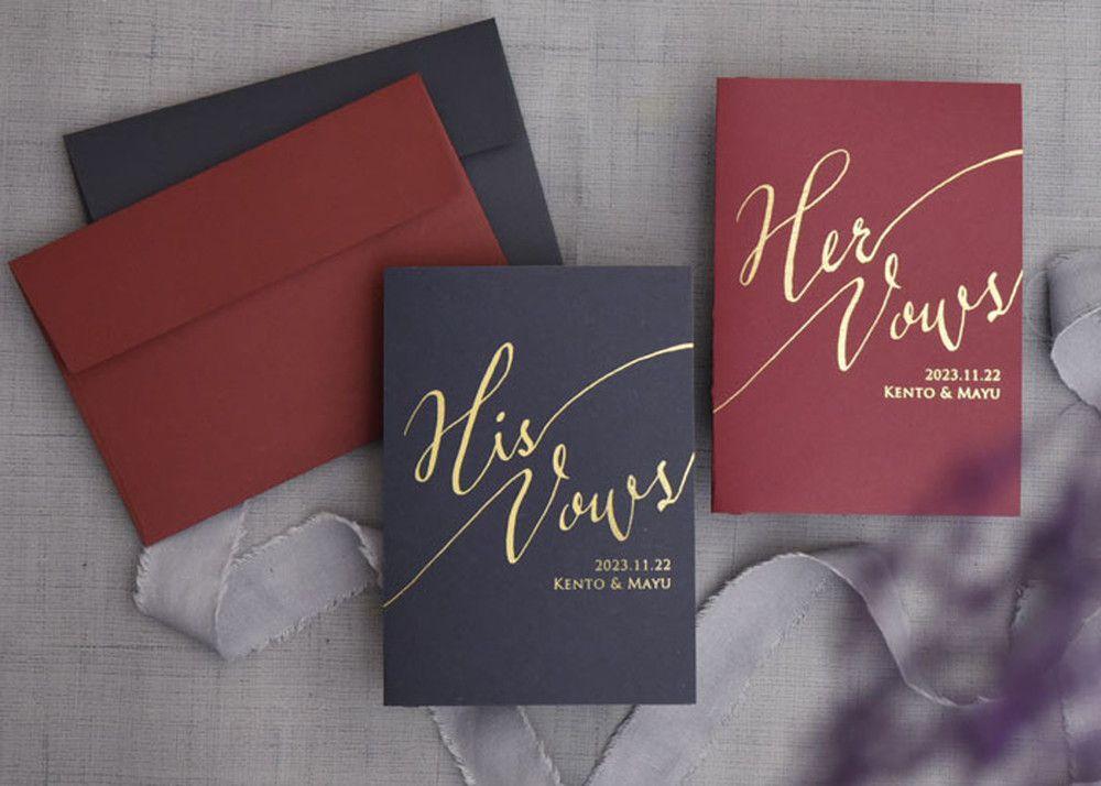 Wedding vow books誓いのノート「ダーク」