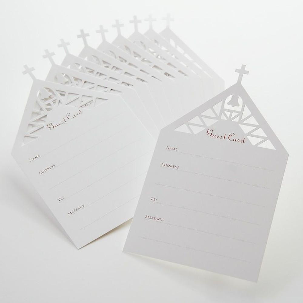 デザインゲストカード チャペル(10枚入)