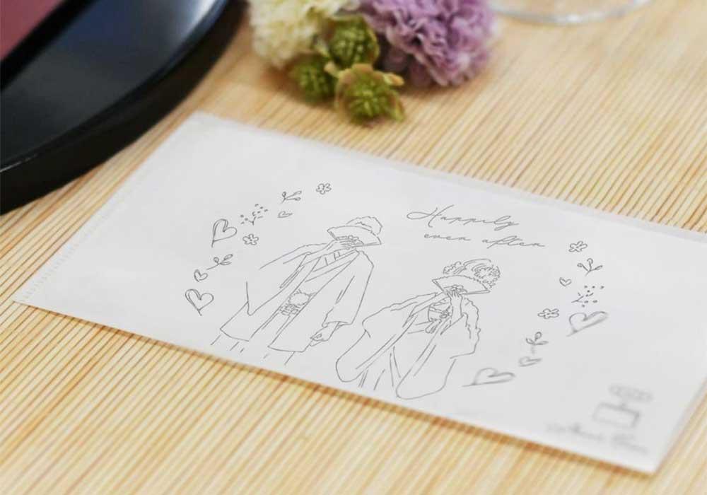 結婚式専用和風和装デザイン抗菌マスクケース