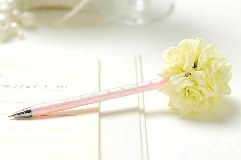 超特価お花ペンホワイト