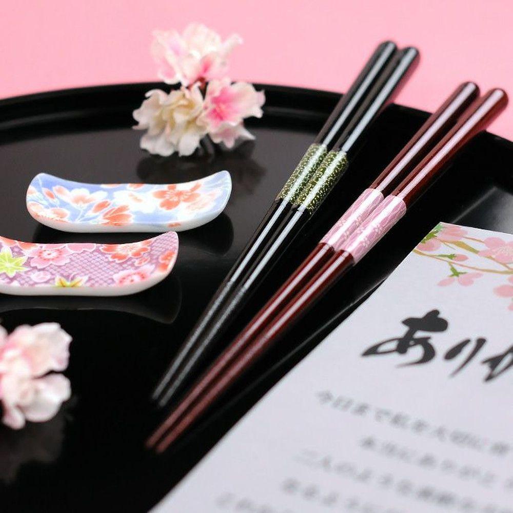 感謝箸&夫婦箸置きセット「桜華(おうか)」日本製両親へのプレゼント
