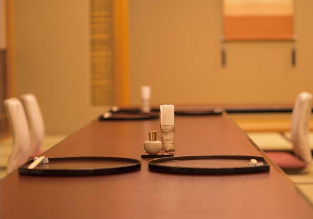 顔合わせ食事会会場の料亭のお座敷