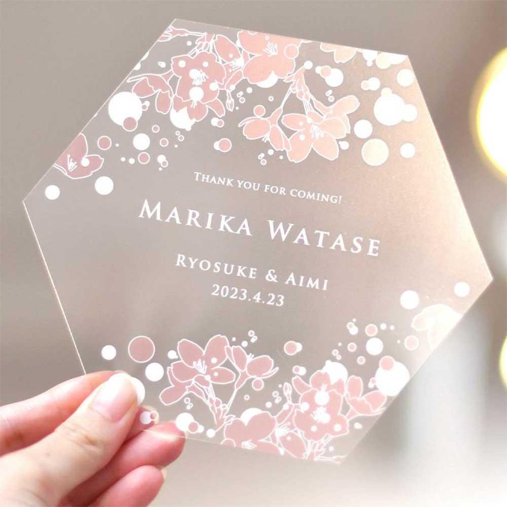 withコロナの結婚式のおもてなしに、飛沫防止策にもなるおしゃれな桜デザインのフェイスシールド・マウスシールド