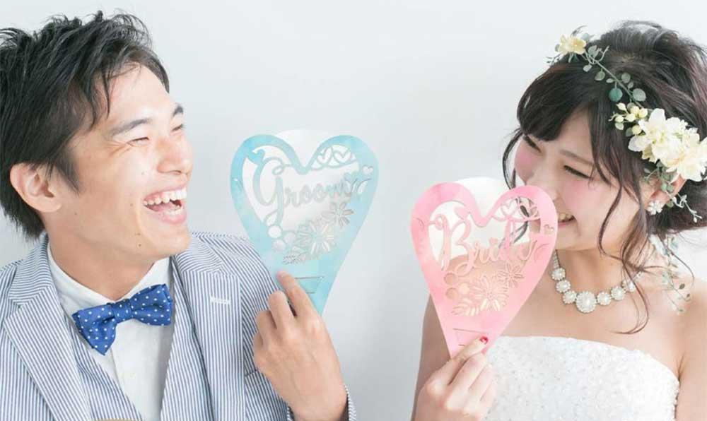 結婚式の高砂に新郎新婦専用フェイスシールドのペアセット