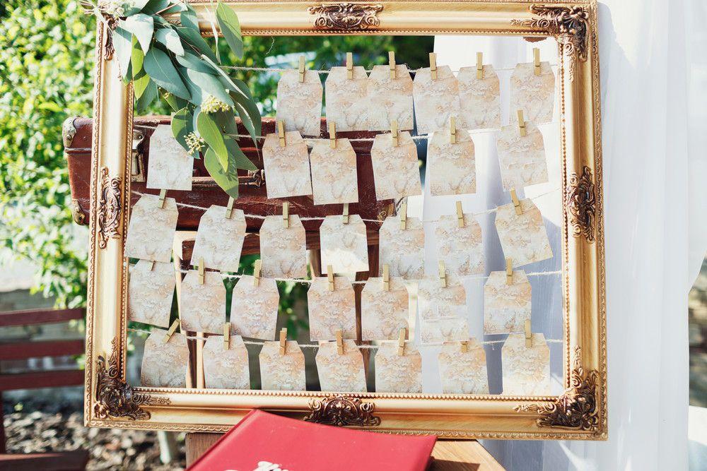 結婚式場に置かれたシーティングチャート
